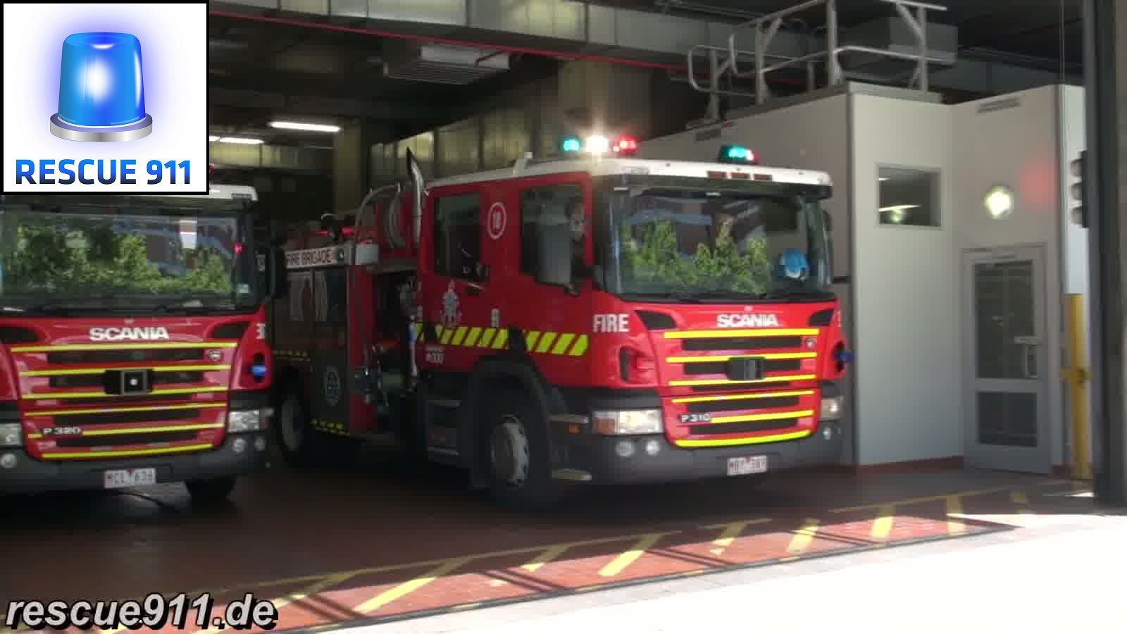 3x Pumper 1B MFB Central Melbourne Fire Station (stream)