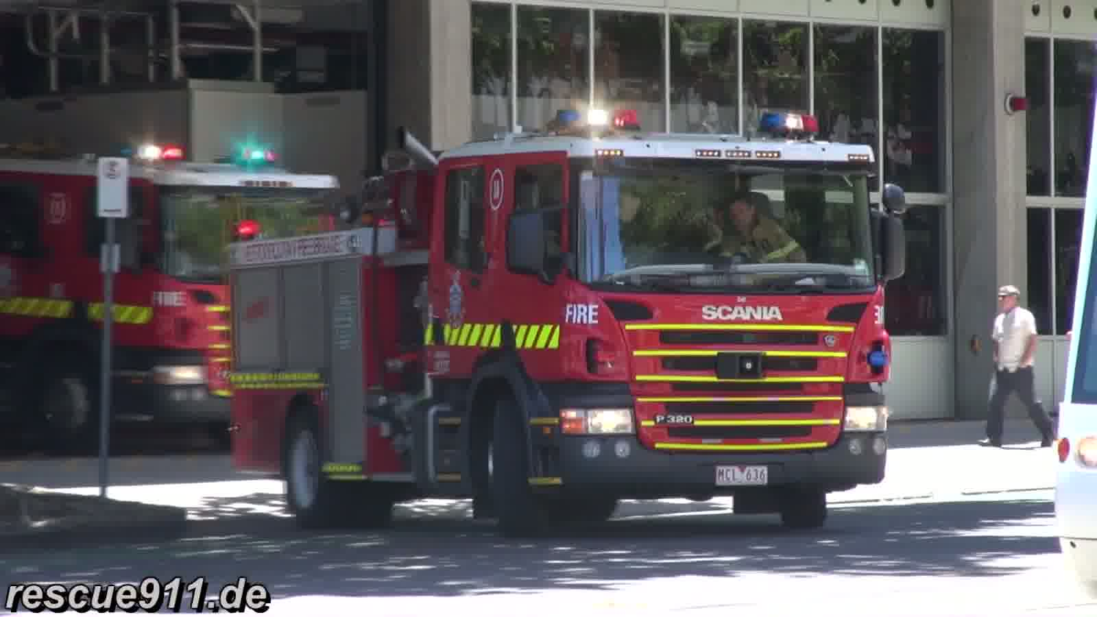 Pumper 1A + 1B MFB Central Melbourne FS (stream)