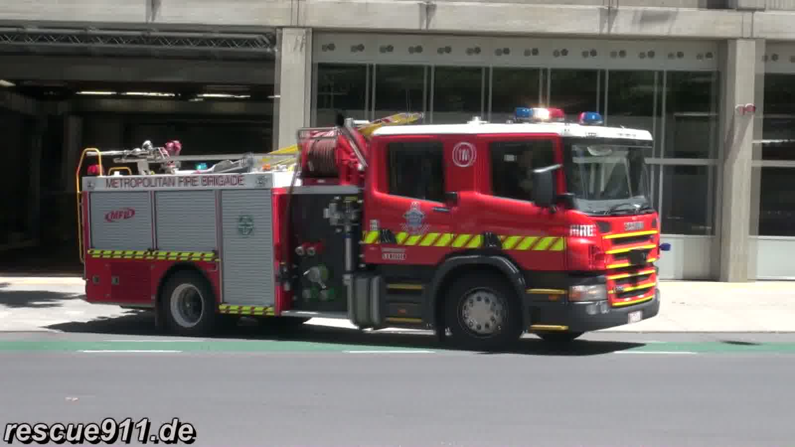 Pumper 1A MFB Central Melbourne FS (stream)