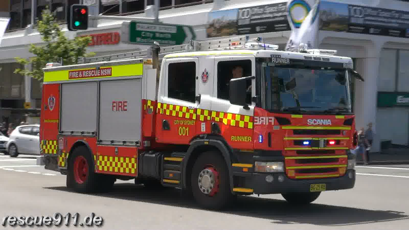Pump Flyer 001 + Pump Runner 001 City of Sydney Fire & Rescue NSW (stream)
