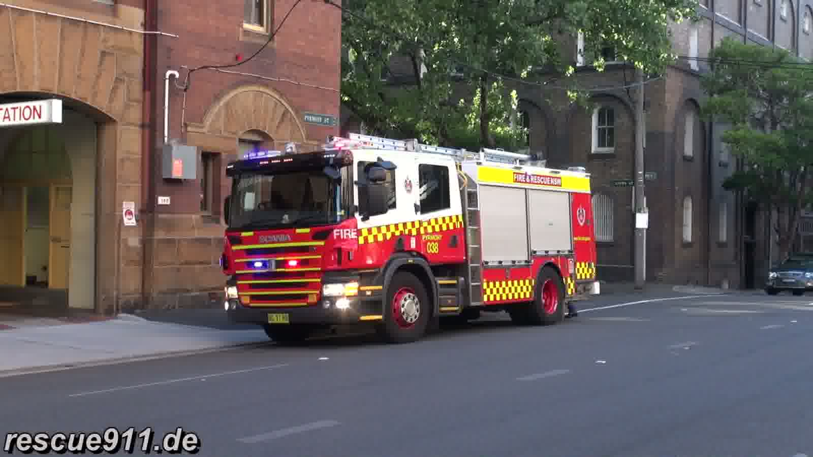 Pump 038 Pyrmont Fire & Rescue NSW (stream)