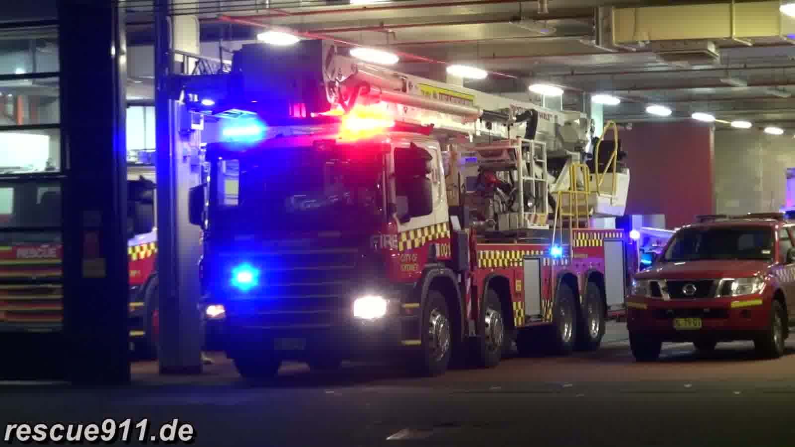 Fire response City of Sydney Fire & Rescue NSW (stream)