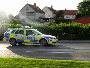 Police Car Halmstad Police Department