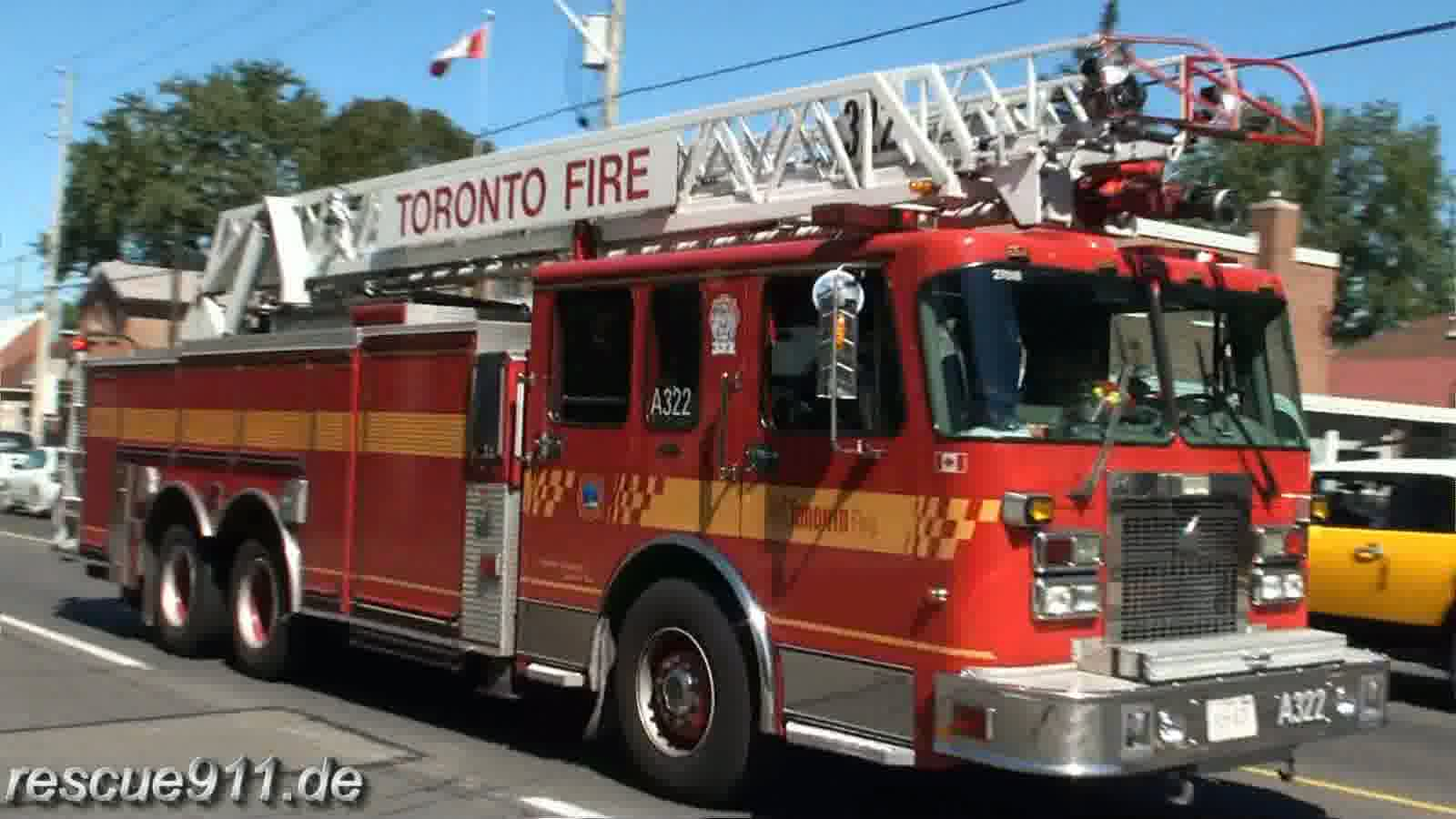 Aerial 322 Toronto Fire Services (stream)