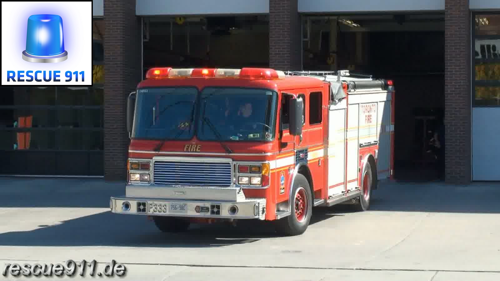 Pump 333 Toronto Fire Services (stream)