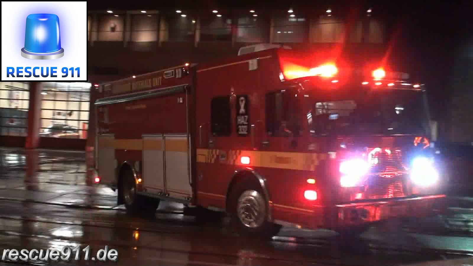 High Rise 332 + Car 33 + Haz Mat 332 Toronto Fire Services (stream)