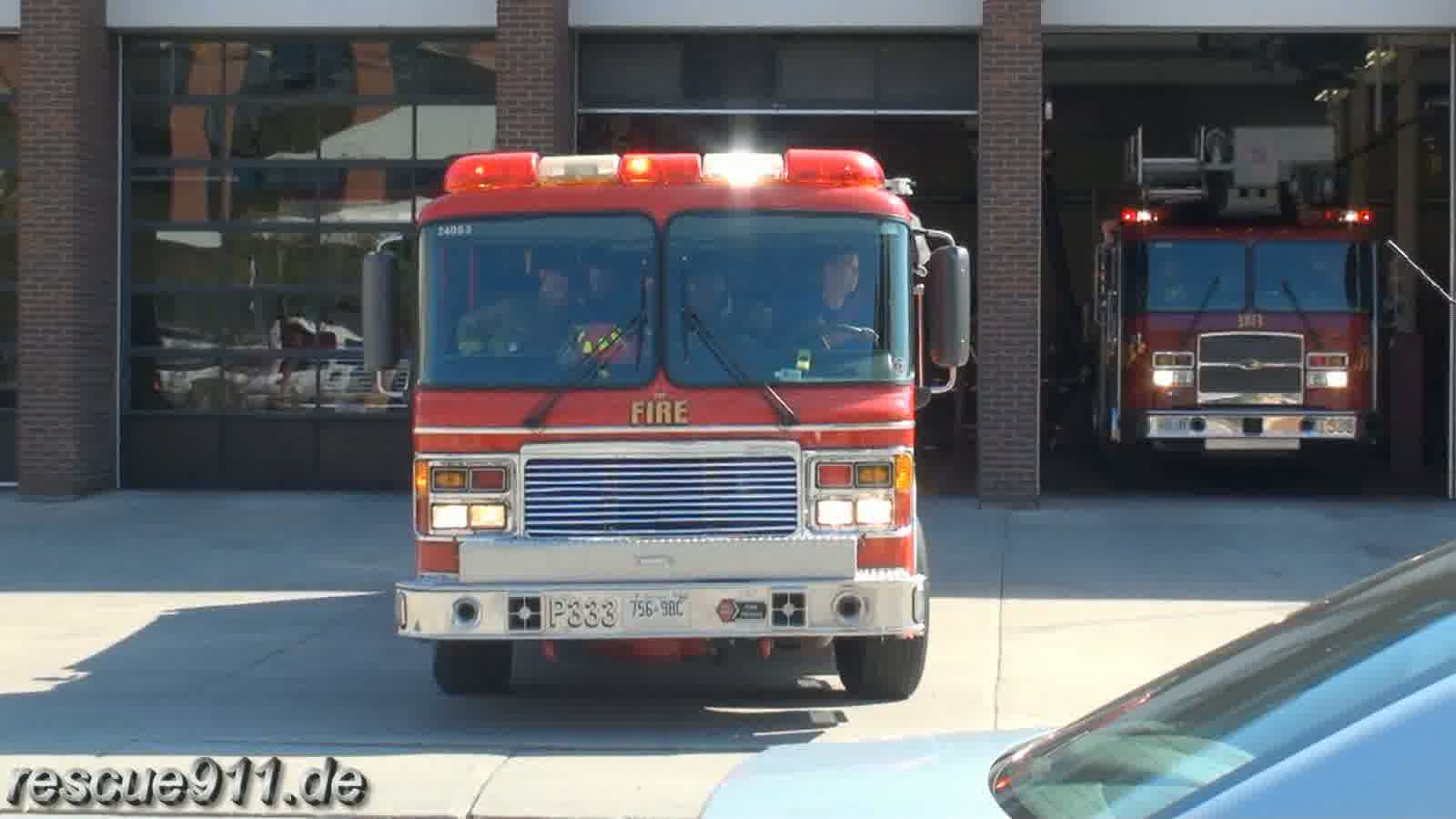 Pump 333 + Tower 333 Toronto Fire Services (stream)