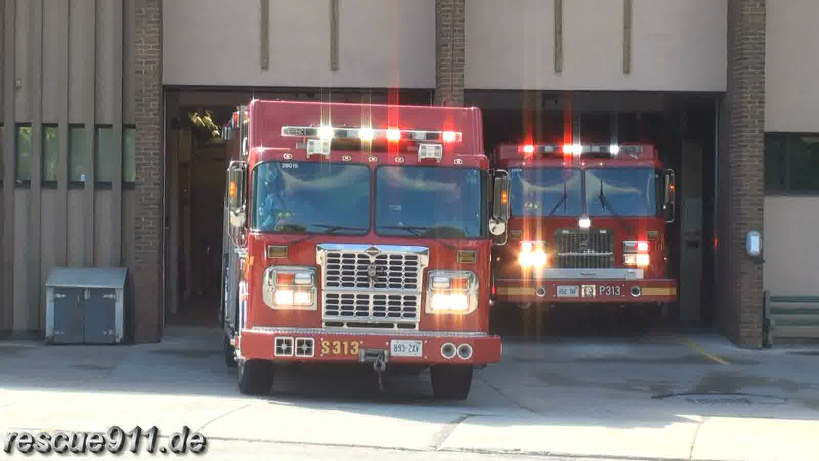 Squad 313 + Pump 313 Toronto Fire Services (stream)