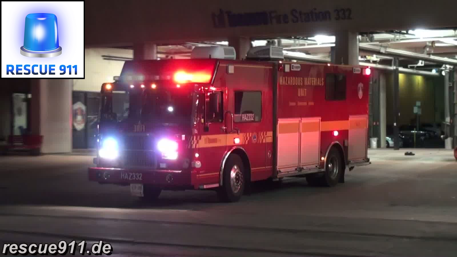 Haz Mat 332 + Chief 33 Toronto Fire Services (stream)
