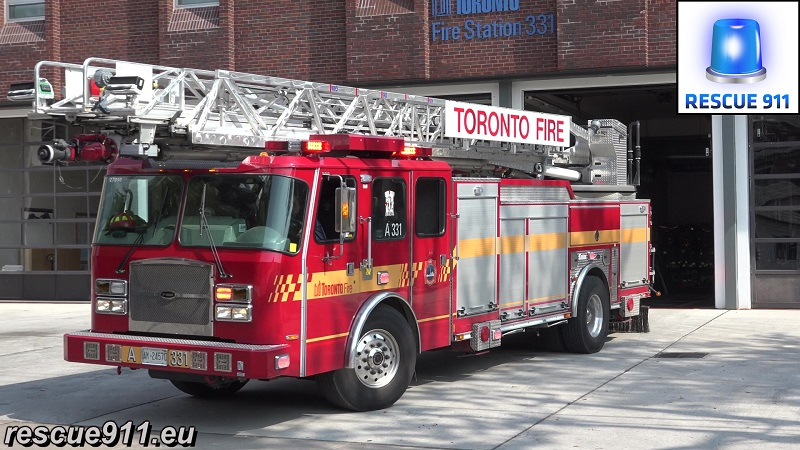 Pump R5214 (331) + Aerial A331 Toronto Fire Services (stream)