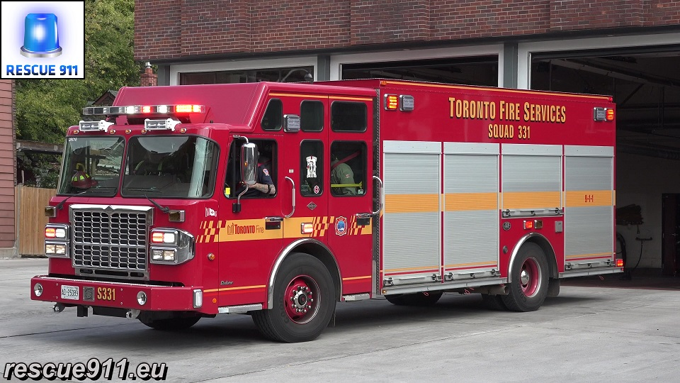 Squad S331 + Pump R5214 (P331) Toronto Fire Services (stream)