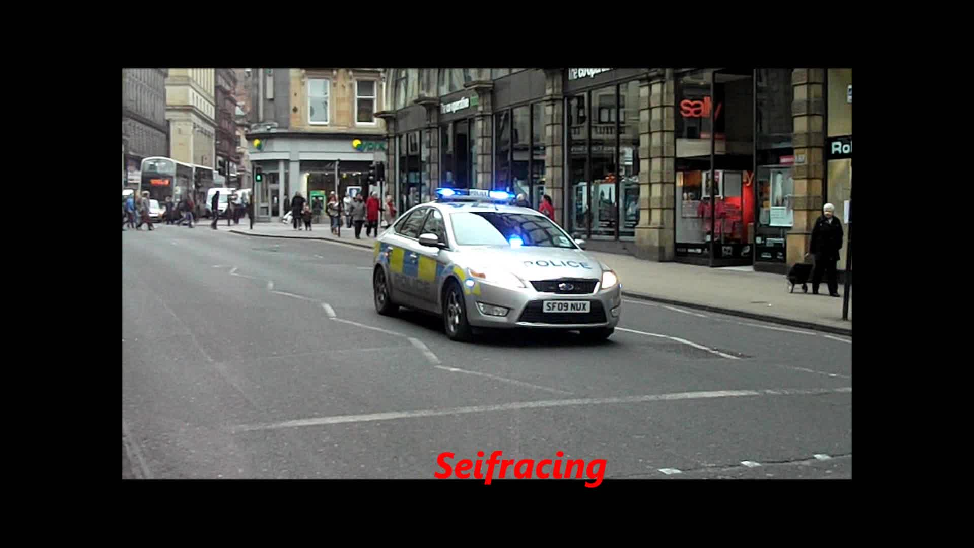 Strathclyde police training car
