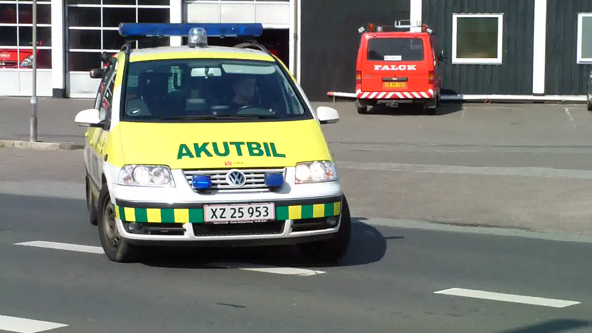 Ambulance + Akutbil Falck Rescue station Holstebro