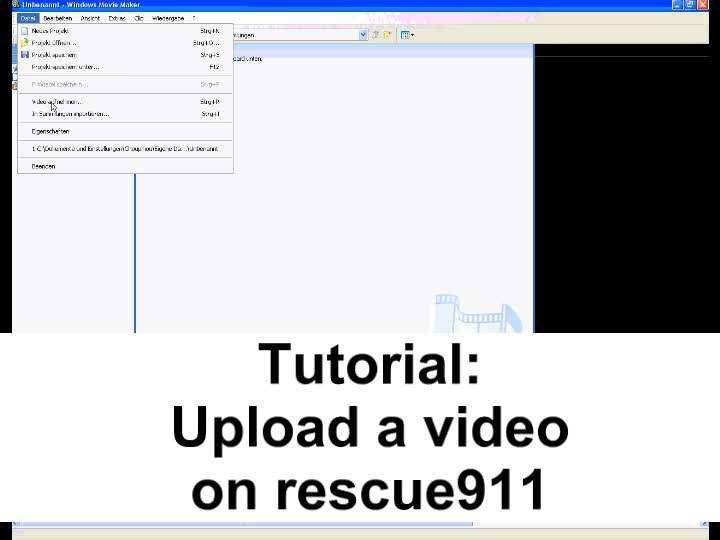 Tutorial - How to upload a video on rescue911