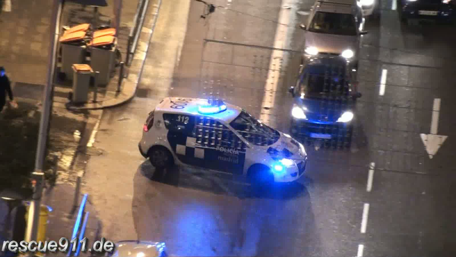 2x Policia Municipal + Ambulancia SAMUR Madrid (stream)