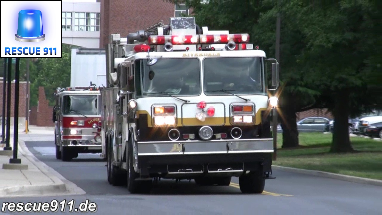 Tower Ladder 807 + Engine 829 PGFD (stream)