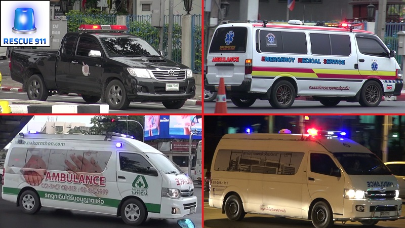 Bangkok Police + Ambulance (collection) (stream)