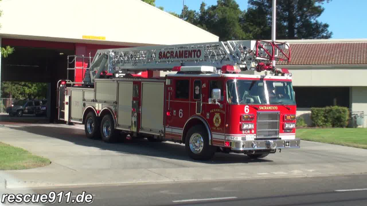 Truck 6 + Medic 6 Sacramento Fire department (stream)
