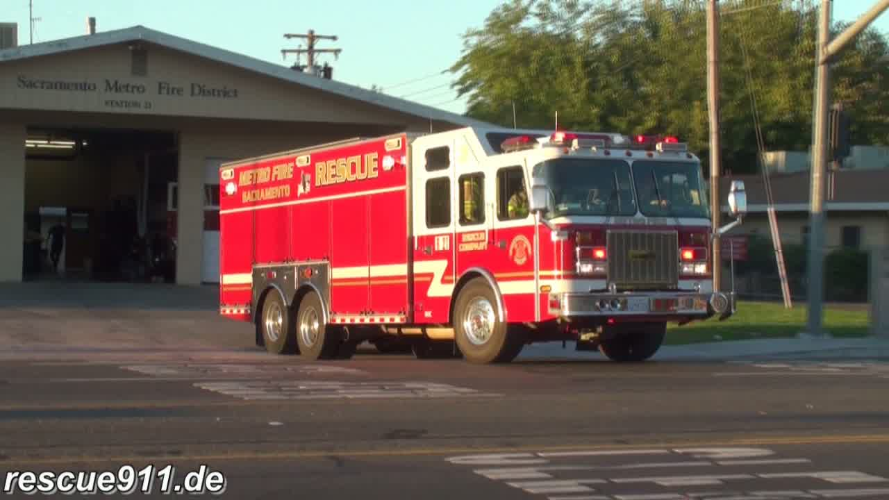 Heavy Rescue 21 + Battalion 13 Sacramento Metro Fire District (stream)