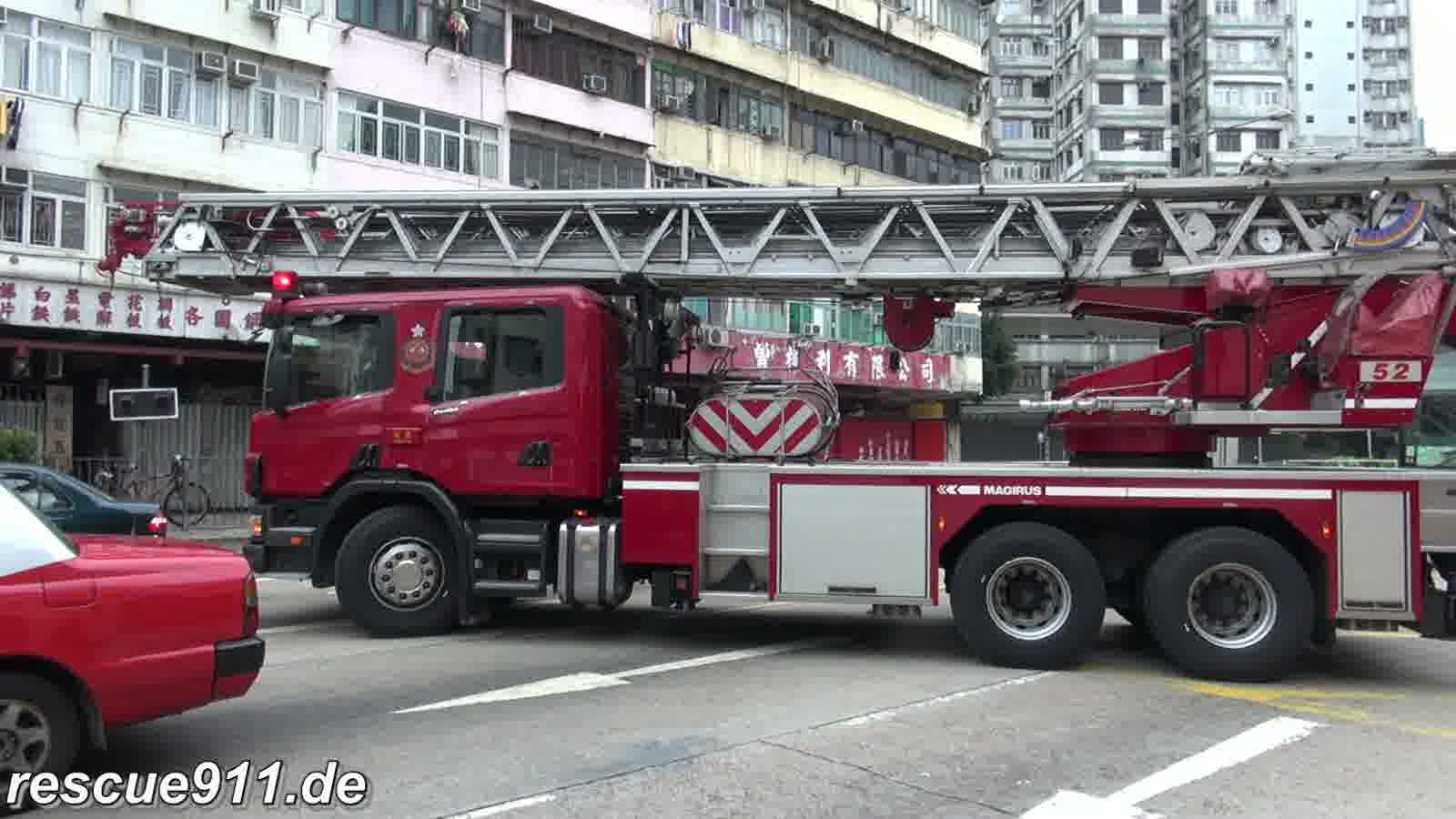 Turntable Ladder HKFSD Mong Kok Fire Station (stream)