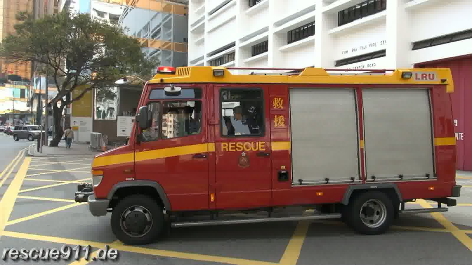 Light Rescue Unit HKFSD Tsim Sha Tsui FS (stream)