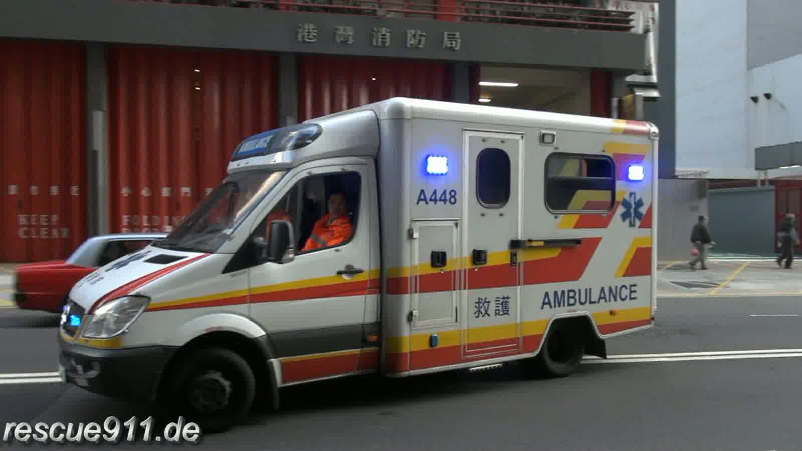 Ambulance A385 + A448 HKFSD Kong Wan FS (collection) (stream)