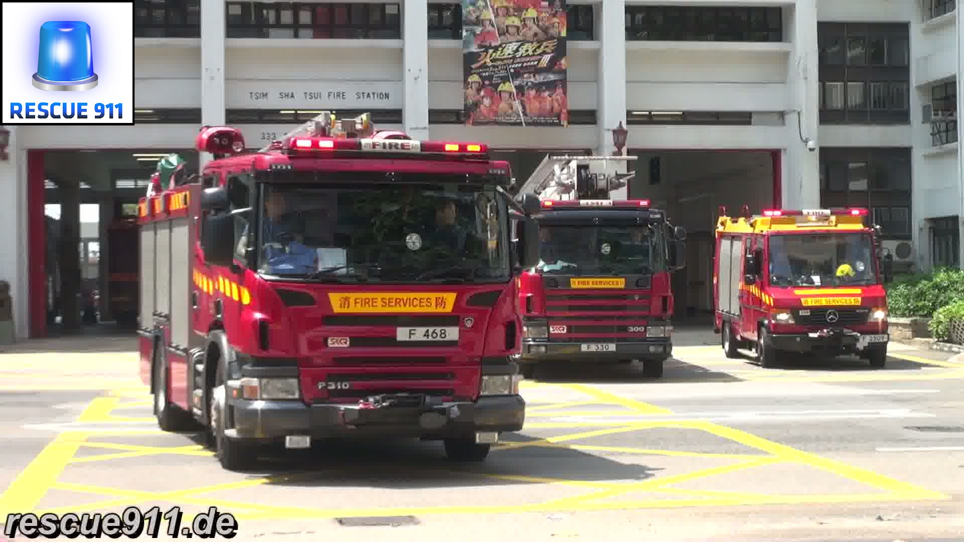 MP + HP + LRU + TL HKFSD Tsim Sha Tsui Fire Station (stream)