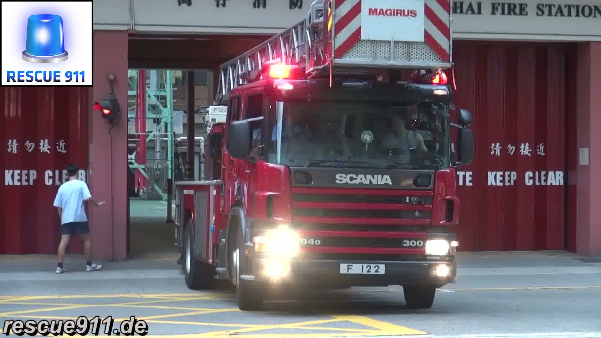 Turntable Ladder HKFSD Wan Chai Fire Station (stream)