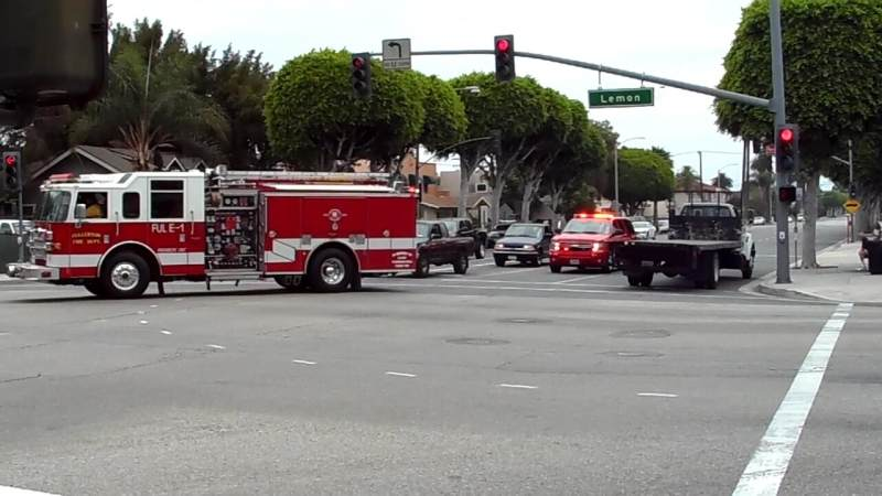 Engine 1 + Battalion Chief 1 Fullerton Fire Department