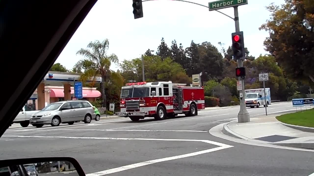 Engine-1 + Ambulance-1 Fullerton Fire Department