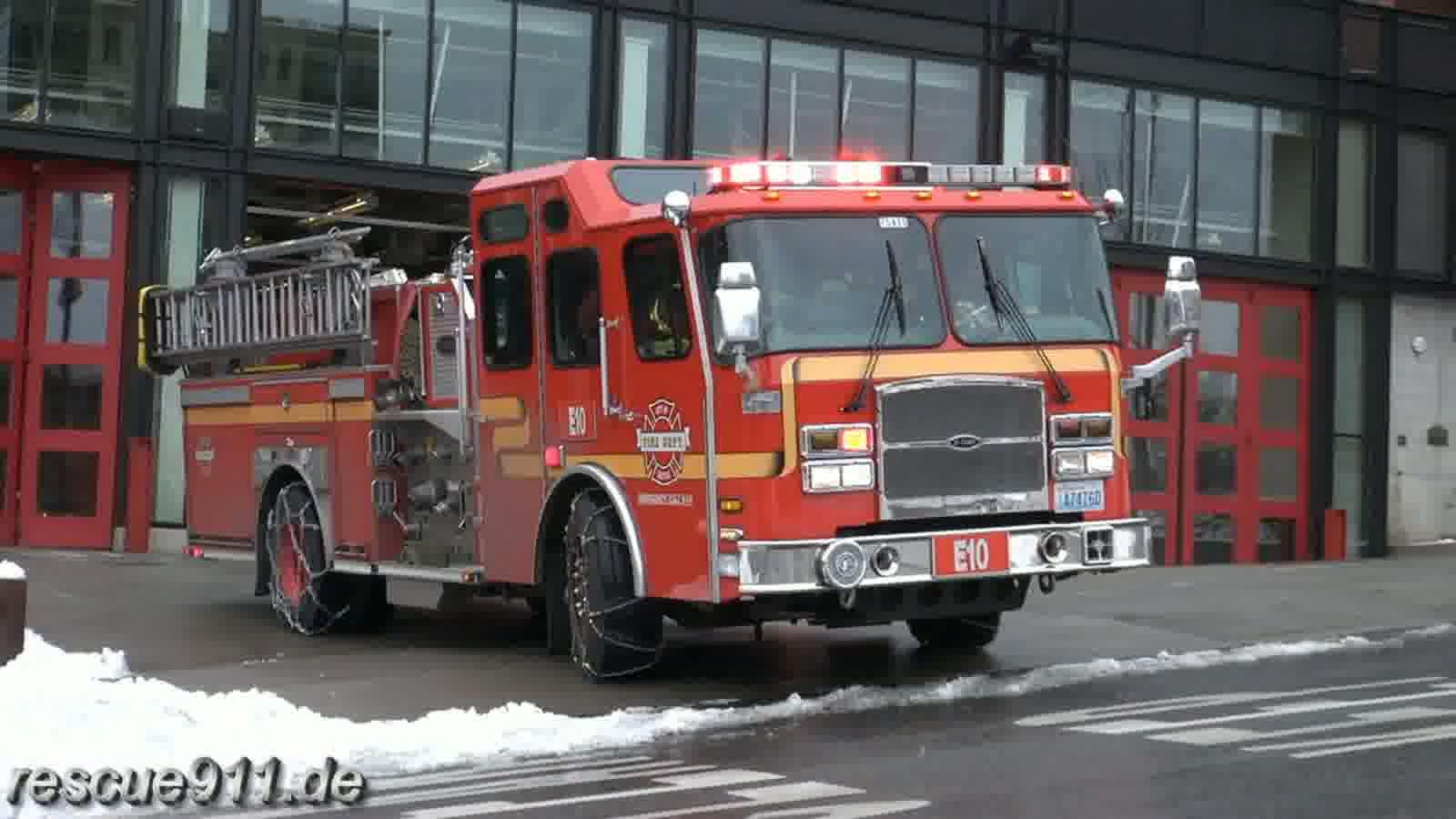 Engine 10 + Ladder 1 Seattle Fire Department (stream)