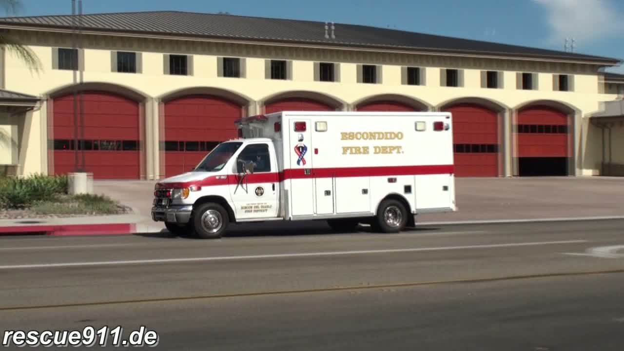 Ambulance 1 Escondido Fire department (stream)