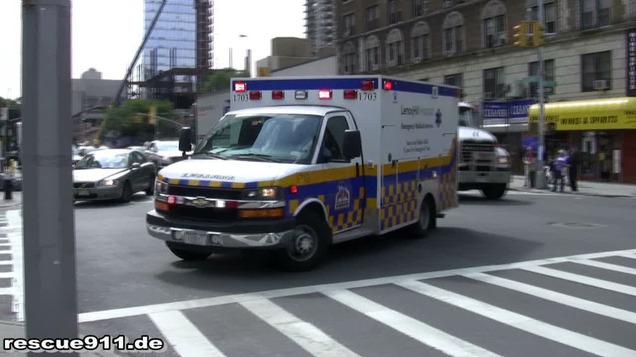 Ambulance Lenox Hill Hospital (stream)