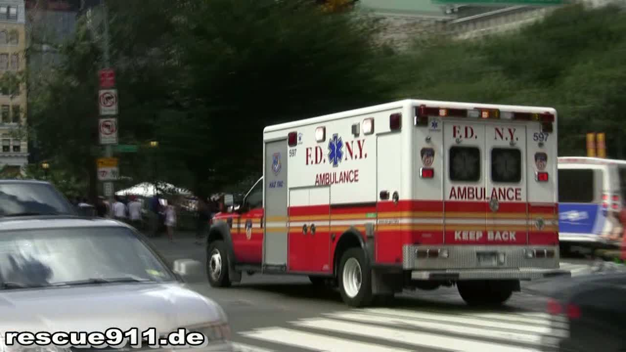 HazTac Ambulance 597 FDNY (stream)