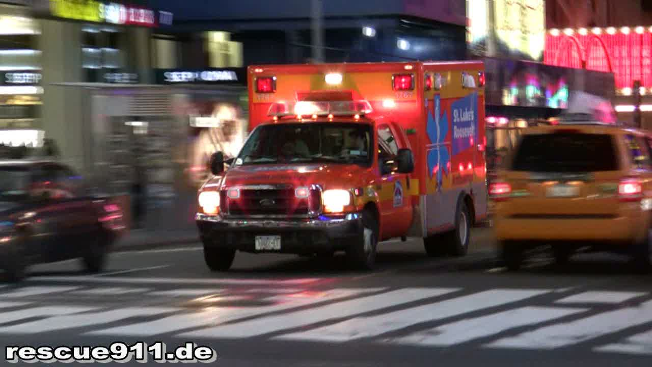 Ambulance St. Luke's Roosevelt Hospital (stream)