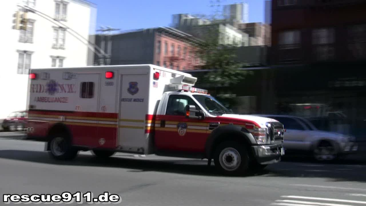 Rescue Medics Ambulance 569 FDNY (stream)