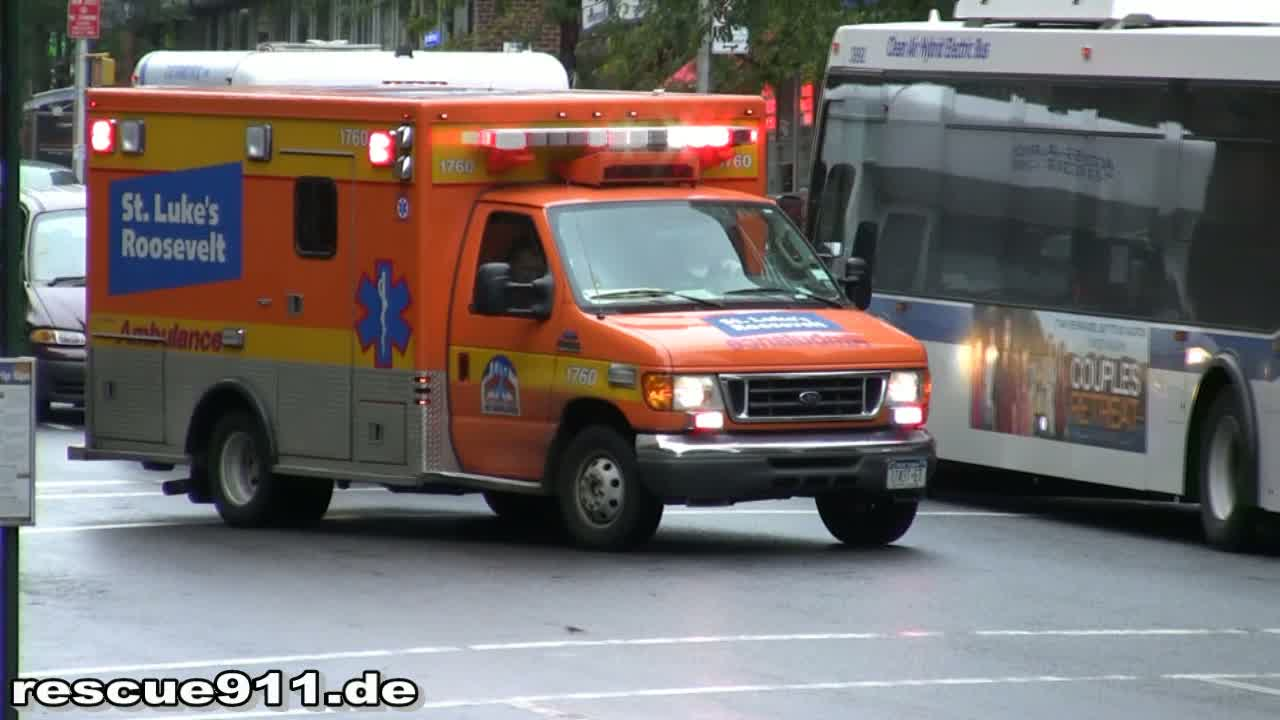 Ambulance St. Luke's Roosevelt Hospital + EMS Supervisor 927 FDNY (stream)