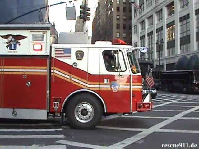 Rescue 1 FDNY + Ambulance St. Vincent's Midtown Hospital (stream)