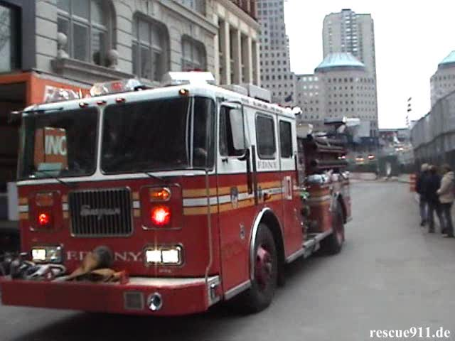 Ladder Truck 10 + Engine 10 + Engine 6 FDNY (stream)
