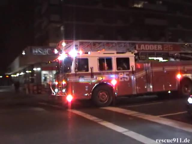 Engine 74 + Ladder Truck 25 FDNY (stream)