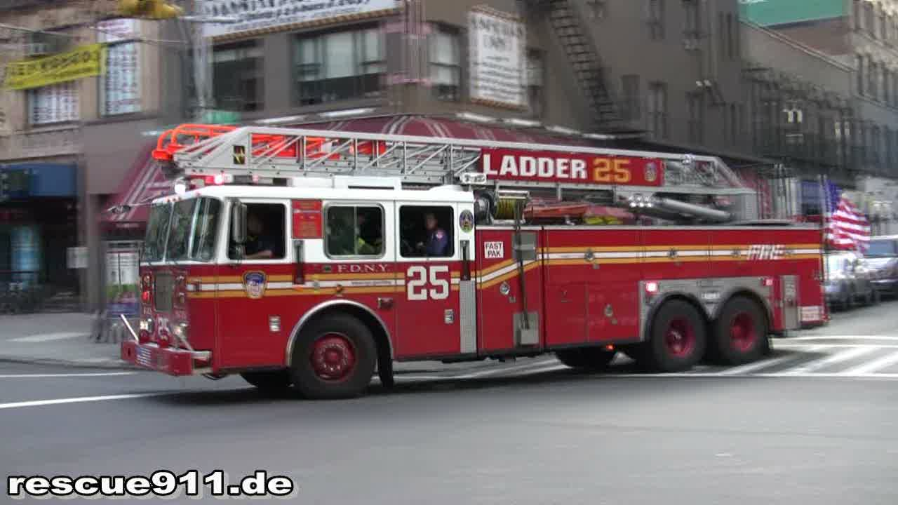 Ladder Truck 25 FDNY (stream)