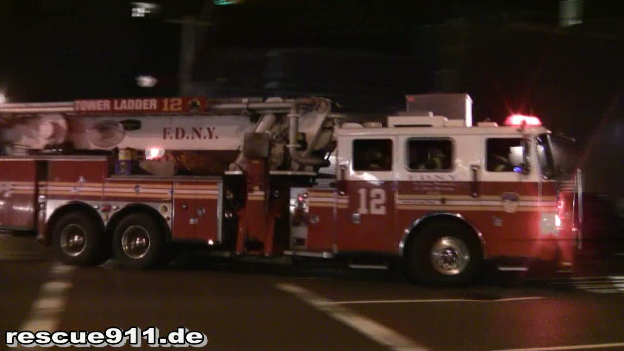 Engine 3 + Tower Ladder 12 + Battalion 7 FDNY (stream)