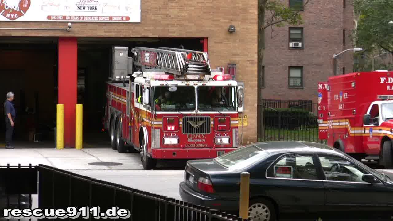 Engine 58 + Ladder Truck 26 FDNY (stream)