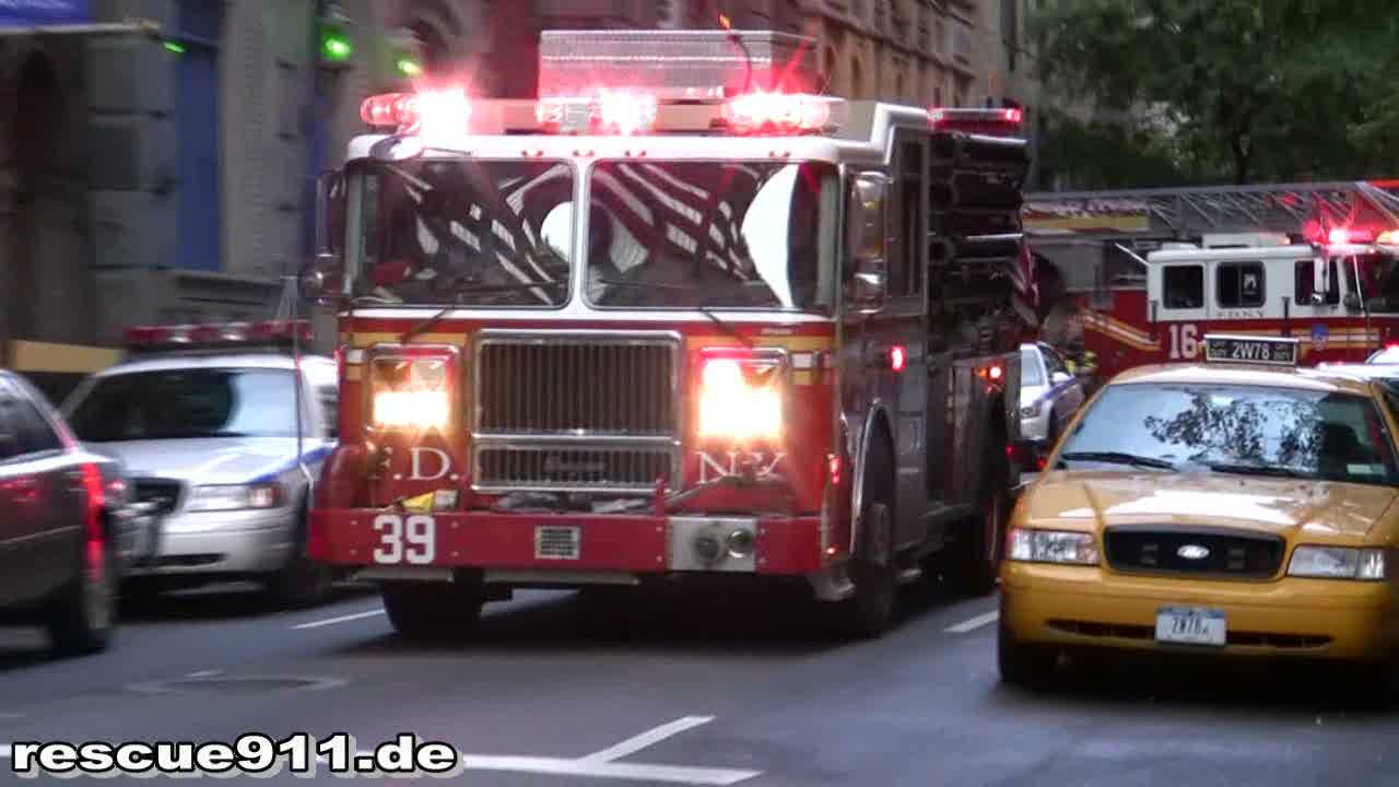 Engine 39 + Ladder Truck 16 FDNY (stream)