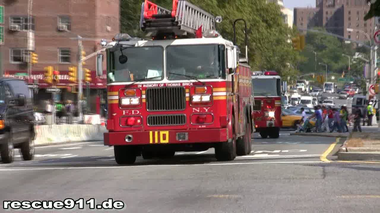 Ladder Truck 110 + Engine 207 + Battalion 31 FDNY (stream)