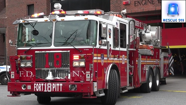 Engine 15 + Tower Ladder 18 FDNY (stream)