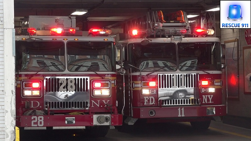 Engine 28 + Ladder 11 FDNY (stream)