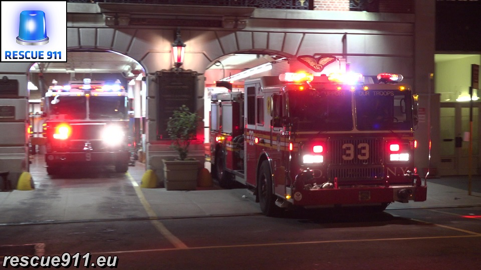 Engine 33 + Tower Ladder 9 FDNY (stream)