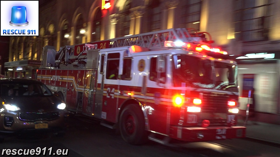 Engine 1 + Ladder 24 FDNY (stream)