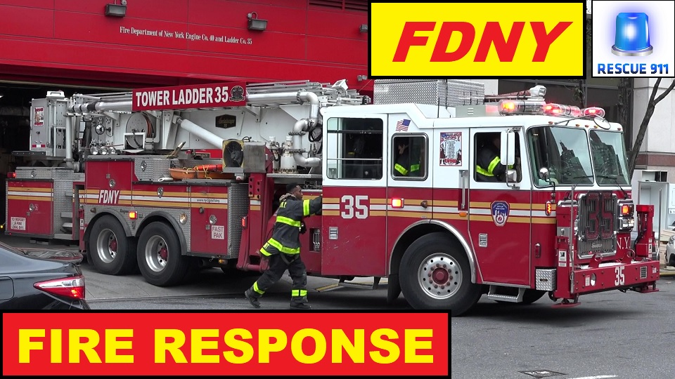 Engine 40 + Tower Ladder 35 + Battalioin 9 + Engine 23 + Ladder 25 FDNY (collection) (stream)